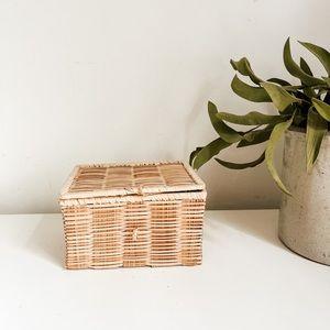Cute lidded rectangle basket